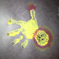 Lion Handprint Craft