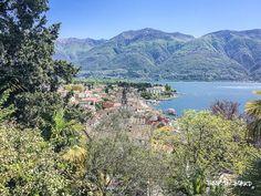 view on Ascona, descending from Monte Verità