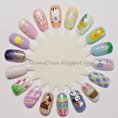 easter nail wheel check out www.ThePolishObsessed.com for more nail art ideas.