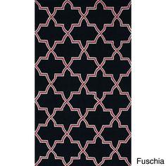 nuLOOM Handmade Alexa Moroccan Trellis Wool Rug (5' x 8') (Fuschia), Pink, Size 5' x 8'