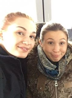 these adorable cuties :D - nicole and waverly Melanie Scrofano, Kat Barrell, Katherine Barrell, Waverly Earp, Dominique Provost Chalkley, Waverly And Nicole, Important People, Cute Couples, Hair Beauty