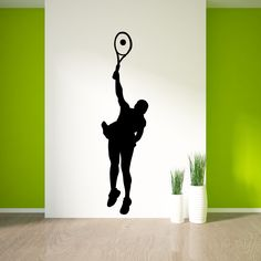 Tennis Wall Decal Sticker 22 & Vinyl Wall Decal Tennis Player Sport Racquet Ball Stickers Unique ...