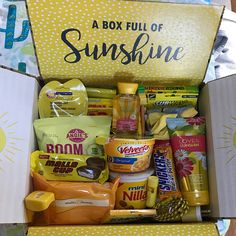 Care Package Sticker Kit – Box of Sunshine/Military Care Package/Deployment /Missionary/Summer/Box Flaps/one day closer/shipping box/labels - Care Package ideas Newest 2020 Birthday Gift Baskets, Birthday Gifts For Best Friend, Birthday Box, Friend Birthday Gifts, Best Friend Gifts, Happy Birthday, Kit Box, Sunshine Care Package, Deployment Care Packages