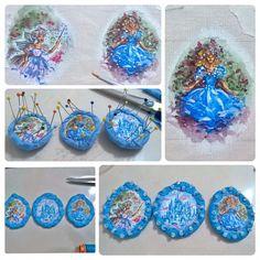 """Step by step   Oooh baby!""  ❤😆🎤🎧🎶👸✂📍✏🎨 #almadeboneca #handmade #details #fashiondesigner #stepbystep #fashion #fairygodmother #fineart #visualartist #atelier #exclusive #song #magic #beauty #acessories #painting #art #inspiration #auroradaminhavida #embroidery #colors #illustrations #canvas #Disney #enchanted #fantasy #Cinderella #princess  #fairytale #wip"