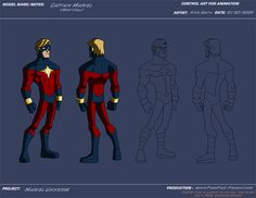 "[Animation Project Control Art]    ""Captain Marvel""  (Marvel Universe)    This is the classic Mar-Vell incarnation of the Marvel Universe's Captain Marvel. I believe he originally had white hair in this uniform, I forget how it turned blonde. Seeing as it was the exact same look, this can also double as the Skrull sleeper agent Mar-Vell that appeared during the Secret Invasion storyline.    (NOTE: this is a work of fiction, this is not for a REAL animated series! I don't work in the…"