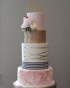 Pretty wedding cake #weddingcake #weddingideas