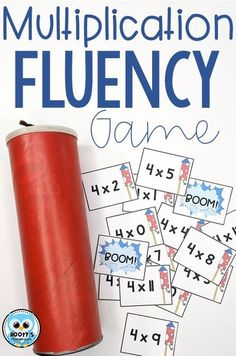 If your students are like mine, they need to have better fact fluency. The best way to become proficient is to practice, but repetition can be boring. This multiplication fact fluency game will have your students excited about practicing math facts. Your students will beg to play this game again and again! Multiplication Facts Games, Math Facts, Math Fractions, Math Resources, Math Activities, Learn Basic Math, Fluency Games, I Love Math, Math Graphic Organizers