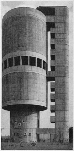 water tower, backnang, germany. 1962.