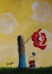 Alice In Wonderland Original Artwork Print by Shawna Erback