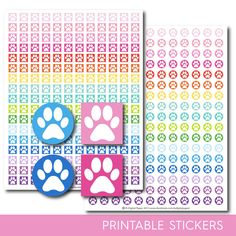 Dog stickers, Dog planner stickers, Dog printable stickers, Dog sticker, Cat stickers, Vet stickers, Paw stickers, STI-140