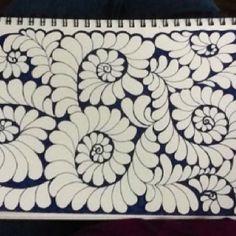 Feather / Plume quilting doodle  Elizabeth K.