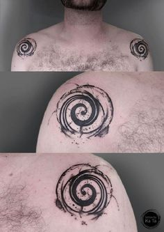 Tattoo, Idea, Design, Geometric, Spiral, Tätowierung