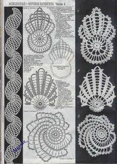 Irish crochet &: Ажурная роза для ирландского кружева. Irish crochet.