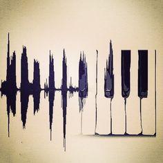 Piano Waveform - Musicoff.com #musicoffcommunity #musicians #musicalinstrument #proaudio #musiclessons #keyboard #piano #pianomusic #pianist #instagood #photooftheday #picoftheday #art