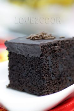 Happy Friday to All! I baked an Eggless Chocolate Cake again yesterday. Spread chocolate ganache and chilled overnight. Eggless Chocolate Cake, Eggless Desserts, Eggless Recipes, Eggless Baking, Dark Chocolate Cakes, Delicious Chocolate, Chocolate Recipes, Baking Recipes, Delicious Desserts