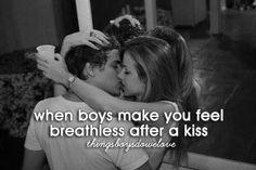 Er ist der Eine, wenn ER dich nach einem Kuss atemlos sein lässt... CHECK