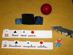 Psicogrammatica Montessori: esperienze chiave col verbo – Lapappadolce Nerd, Montessori, Language Arts, Movie Posters, Diy, Bricolage, Film Poster, Otaku, Do It Yourself