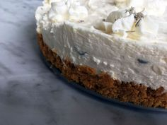 This no-bake lavender cheesecake is sure to impress. No one will guess that it's easy peasy to make! Graham Cracker Crumbs, Graham Crackers, Baking Recipes, Dessert Recipes, Desserts, Lavender Recipes, Lavender Ideas, Cranberry Bliss Bars, Baked Cheesecake Recipe