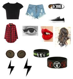 """""""Untitled #115"""" by gracilayne on Polyvore featuring WithChic, Alice + Olivia, Converse, Charlotte Tilbury, The Row, women's clothing, women's fashion, women, female and woman"""