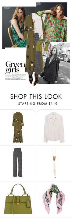 """""""Are you in love with a girl?"""" by glamrockandlove ❤ liked on Polyvore featuring Green Girls, Ganni, Plein Sud, Rebecca Taylor, Miu Miu, Dolce&Gabbana, SpringStyle, layering and Wintertospring"""