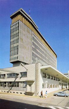 The building complex of Czechoslovak Television, Prague  #socialist #brutalism #architecture