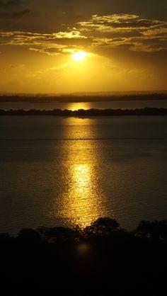 Lago Guaiba. Porto Alegre, Rio Grande do Sul, Brasil.