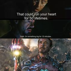 Or something REALLY big for 15 seconds. It just dawned on me how Tony was able to not only wield the stones but also do so without immediately being incapacitated like the Hulk was. His Arc reactor took the bulk of the energy. Marvel Jokes, Avengers Memes, Marvel Funny, Marvel Dc Comics, Marvel Heroes, Marvel Avengers, Reactor Arc, Iron Man Arc Reactor, Funny Sports Memes