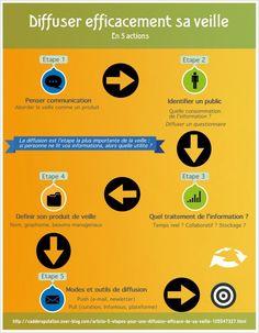 Infographie : comment diffuser les résultats de sa veille ? - CaddE-Réputation