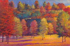 Ken Elliott Fall with the Evergreens oil on canvas 48 x 60 inches