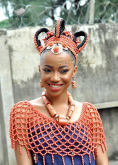 BN Celebrity Weddings: Wazobia FM OAP/Comedian Omoro 'Igos' Iledia & Model/Makeup Artist Lynda Ndukwu's Gorgeous Wedding African Dresses For Women, African Women, African Fashion, African Beads, African Jewelry, African Necklace, Nigerian Bride, Nigerian Weddings, African Wedding Attire