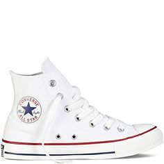 Converse Unisex Chuck Taylor All Star Hi Optical Wht Basketball Shoe Men .: Converse Unisex Chuck Taylor All Star Hi Optical Wht Basketball Shoe Men . Converse Outfits, Converse Chucks, White Chucks, Sneaker Outfits, Converse Trainers, High Top Sneakers, White High Top Converse, Sneakers Mode, Converse Shoes