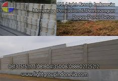 Light Group Indonesia: PAGAR PANEL BETON