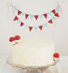 bolo para cha de bebe cogumelo