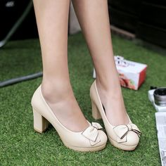 64fe2ffec862 Bow Tie Platform High Heeled Shoes for Women 8368
