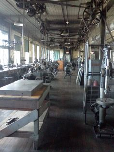 Another view off the fine machine shop on the second floor of the invention factory. Alva Edison, Belt Shop, Patent Drawing, Inventors, Second Floor, Metal Working, Belts, Two By Two, Workshop
