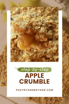 Easy Apple Crumble Recipe-This apple crumble is so easy to make and delicious with tangy apples and crispy crumbles. You'll love this classic and simple Fall dessert recipe! #applecrumble #apples #crisp #easyrecipe #fall Fall Dessert Recipes, Sweet Desserts, Delicious Desserts, Yummy Food, Banana Crumble, Pie Crumble, Apple Crumble Recipe Easy, Easy Baking Recipes, Cooking Recipes