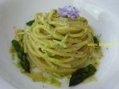Spaghetti di Kamut al Pesto di Asparagi e Mandorle