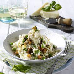Risotto Primavera (mit Möhren, Champignons, Zucchini und Erbsen) Rezept | LECKER