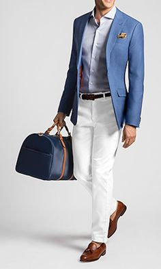 This article features 8 essential types of shirts for men — 60 modern ways to wear each shirt style — how they should fit, and where you can buy them. Blazer Outfits Men, Mens Fashion Blazer, Mens Fashion Wear, Outfits Casual, Suit Fashion, Mode Outfits, Blue Blazer Outfit, Smart Casual, Men Casual