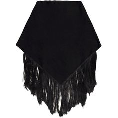 EMILIO PUCCI Shawl ($149) ❤ liked on Polyvore featuring accessories, scarves, skirts, black, coats, jackets, emilio pucci scarves, fringed shawls, fringe scarves and emilio pucci