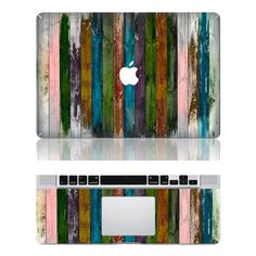 wood stripe macbook pro cover decals mac pro cover by MiracleDecal, $17.66