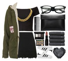 """!"" by king-alysa ❤ liked on Polyvore featuring adidas, Topshop, CÉLINE, Sephora Collection, Linum Home Textiles, Smashbox, NYX, women's clothing, women and female"