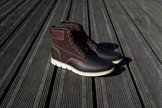 Baskets montantes Timberland Bradstreet Leather Boots en cuir et suède marron