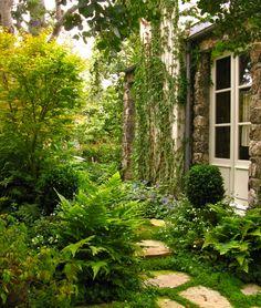 Lush garden, cottage in Carmel, California