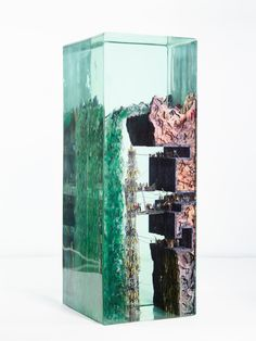 """Art Advanced Technologies Hide Below the Surface in New Three-Dimensional Collages by Dustin Yellin May 2019 Kate Sierzputowski """"Astronauts Building a Rocket Unde 3d Collage, Glass Brick, Below The Surface, Arch Model, Colossal Art, Land Art, Three Dimensional, Science Fiction, 3 D"""