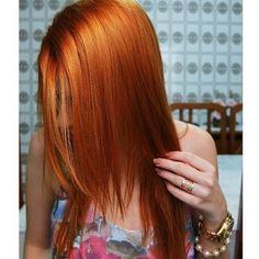 ruivaseruivos - @rebecacoradi Majirel 7.4 ox 30 Ox, 50 Shades, Redheads, Hair Inspiration, Celebration, Long Hair Styles, Orange, Girls, Beauty