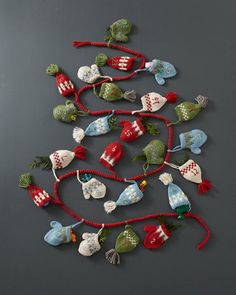 A curated collection of 14 Super Fun Advent Calendars. Start a new family tradition with one of these special Advent Calendars! Crochet Christmas Garland, Crochet Garland, Noel Christmas, Christmas Knitting, Christmas Stockings, Christmas Crafts, Christmas Decorations, Christmas Ornaments, Christmas Tables