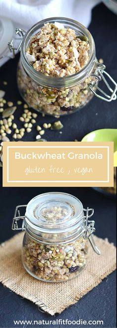 Buckwheat Granola Recipe - This buckwheat granola is the perfect on the go gluten free nutrient dense breakfast or snack!!
