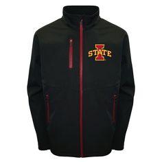 Men's Franchise Club Iowa State Cyclones Softshell Jacket, Size: Medium, Black