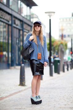 over-sized sweater | leather | coordinated color